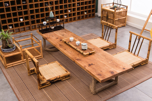 These Sets Of Tables Also Contribute To The Harmony Living E Bringing A Comfortable Feeling Extremely With Rattan And Bamboo